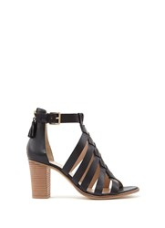 Mint Velvet Black Hope Cross Strap Sandal