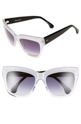 Women's Steven Alan 'Bellmore' 54Mm Cat Eye Sunglasses White
