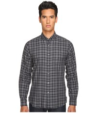 Todd Snyder Italian Small Check Button Up Black Grey