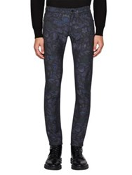 Burberry Skinny Fit Floral Jacquard Jeans Navy