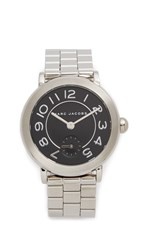 Marc Jacobs Riley Watch Stainless Steel Glossy Black
