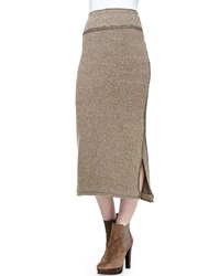 Ralph Lauren Collection Long Heather Cashmere Midi Skirt
