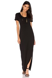 Michael Stars Back Twist Dress Black