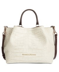 Dooney And Bourke City Lafayette Large Embossed Barlow Satchel Ivory