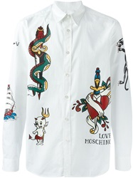 Love Moschino Tattoo Print Shirt White