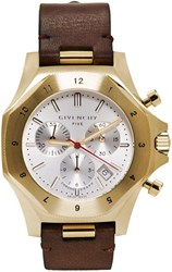 Givenchy Gold Five Chronograph Watch