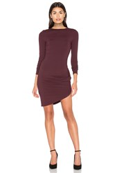 Twenty Asymmetrical Cut Dress Burgundy