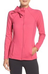 Beyond Yoga Women's Kate Spade New York And Front Zip Jacket Deep Carnation