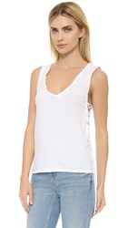Pam And Gela Side Lace Up Tank White