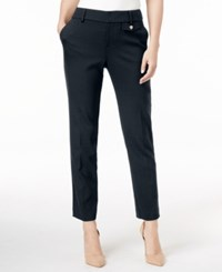 Charter Club Slim Leg Cropped Pants Only At Macy's Deepest Navy