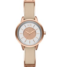 Armani Exchange Ax5353 Rose Gold Toned Stainless Steel Watch