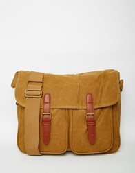 Asos Satchel In Stone Canvas