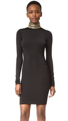 Balmain Embellished Turtleneck Dress Black