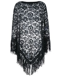 Valentino Lace Poncho Black Denim