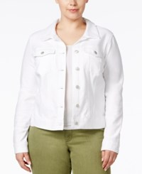 Jessica Simpson Plus Size Pixie White Wash Denim Jacket
