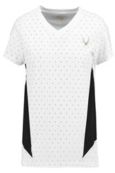 Lucas Hugh Slider Printed Stretch Pique T Shirt White