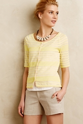 Moth Double Layer Cardi Canary