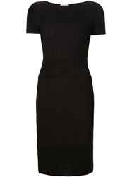 Maison Ullens Ribbed Fitted Dress Black