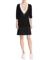 Timo Weiland Chloe Chevron Sweater Dress 100 Bloomingdale's Exclusive Black White