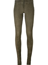 Isaac Sellam Experience Panelled Leggings Green