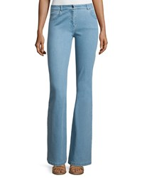 Michael Kors Collection Mid Rise Flare Leg Contour Jeans Sky Blue Size 10
