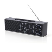 Lexon Titanium Led Clock Radio Black