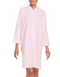 Miss Elaine Emboidered Mumu Duster Robe Pink