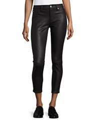 7 For All Mankind Faux Leather Jeggings Black