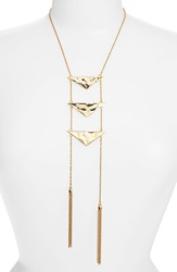 Nordstrom Triangle And Tassel Ladder Necklace Gold