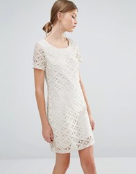 Vero Moda Lace Midi Dress Moonbeam White