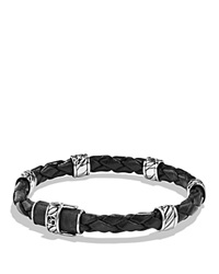 David Yurman Bracelet With Black Coral And Blue Spinel