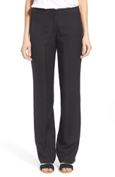 Women's Nic Zoe 'Easy' Linen Blend Wide Leg Pants Black Onyx