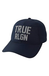 Men's True Religion Brand Jeans Reflective Baseball Cap Blue True Navy