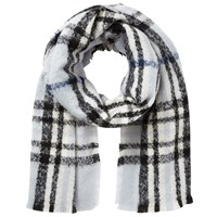 East Checked Scarf Blue