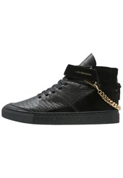 Cayler And Sons Hamachi Hightop Trainers Black Gold