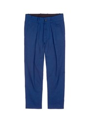 Ffixxed Studios 'Wutong' Pleated Chambray Unisex Pants Blue