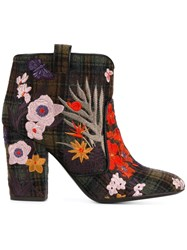 Laurence Dacade 'Pete' Embroidered Ankle Boots Multicolour