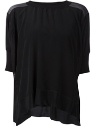By Malene Birger Puff Sleeve Panelled Blouse Blue