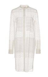 Maison Rabih Kayrouz Lace Button Up Dress White