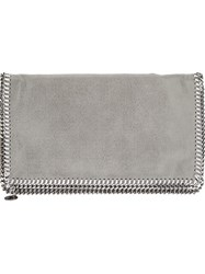 Stella Mccartney 'Falabella' Envelope Clutch Grey