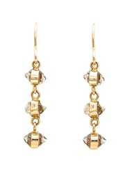 Melissa Joy Manning Quartz Drop Earrings Metallic