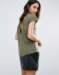 Vero Moda T Shirt With Spider Ring Back Ivy Green