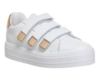 Office Player Velcro Strap Trainers White