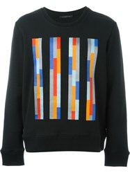 Christopher Kane Embroidered Striped Sweatshirt Black