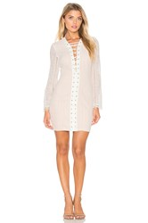 Endless Rose Long Sleeve Lace Up Dress White