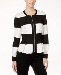 Inc International Concepts Striped Peplum Jacket Only At Macy's Rugby Stripe