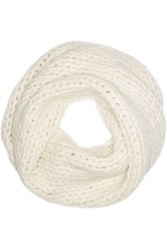 Helmut Lang Cable Knit Snood White