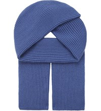 Johnstons Ribbed Cashmere Scarf Provence