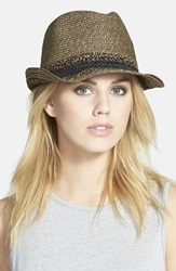 Hinge Mixed Weave Trilby Hat Black Combo