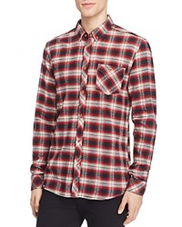 Wesc Oliver Slim Fit Flannel Button Down Shirt Rosewood